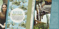 """""""At the River"""" digital scrapbooking layout by Brandy Murry"""