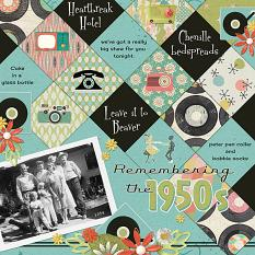 Remembering the 1950s layout using So Retro Value Pack