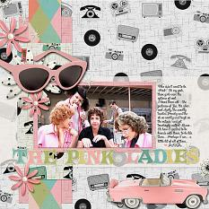 Pink Ladies layout using Paper Mini 2