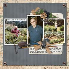 Dad digital scrapbooking layout featuring Tool Time Collection Mini