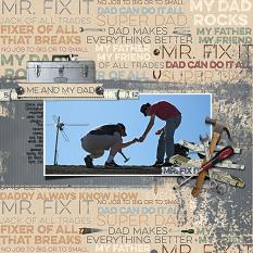 Me and My Dad digital scrapbooking layout featuring Tool Time Collection Mini