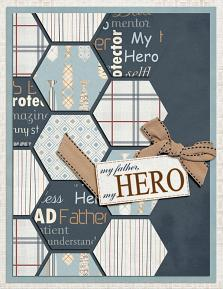 My Father My Hero digital card featuring Tool Time Collection Mini