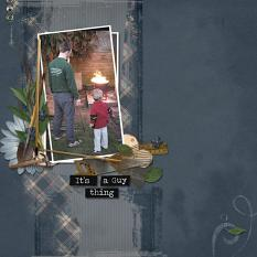 Guy Thing digital scrapbooking layout featuring ValuePack:  World's Best Dad