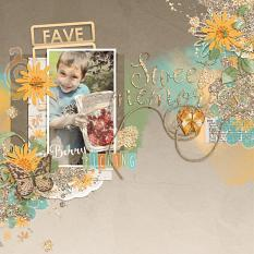 Digital Scrapbook layout using JIF Plus: Simply Awesome