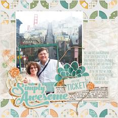 Digital Scrapbook layout featuring JIF Plus: Simply Awesome