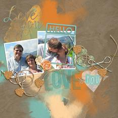 Digital scrapbook layout featuring Swashes and Washes Embellishment Mini