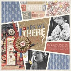 """Are We There Yet?"" roadtrip Layout by Brandy Murry"