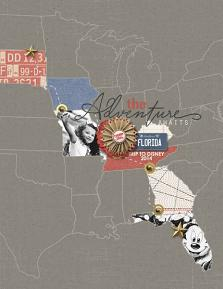 """The Adventure Awaits"" roadtrip Layout by Brandy Murry"