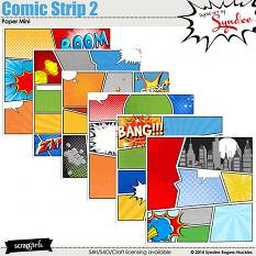Comic Strip Digital Papers 2