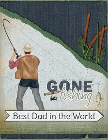 Digital Card Using Dad's Tackle Box