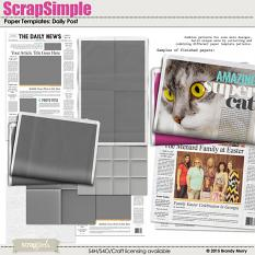 ScrapSimple Paper Templates: Daily Post