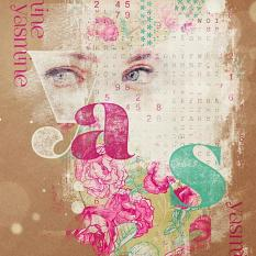"""Yasmine"" digital scrapbooking layout by Brandy Murry"