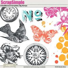 ScrapSimple Embellishment Templates: Big Stamps
