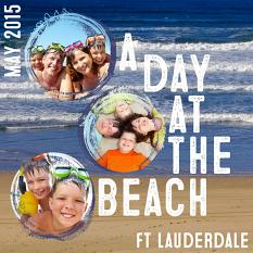 A Day at the Beach layout created by Emily Abramson