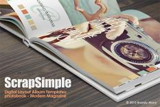ScrapSimple Digital Layout Album: Photobook - Modern Magazine