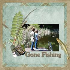 Digital scrapbooking layout, featuring Angler Collection