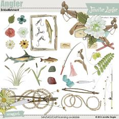 Embellishments included with Angler Collection