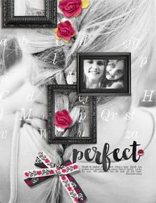 """French Braid"" digital scrapbooking layout by Brandy Murry"