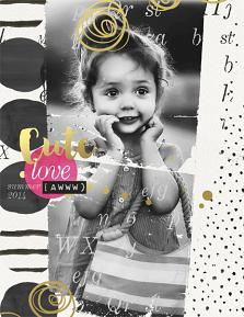 """Cute"" digital scrapbooking layout by Brandy Murry"