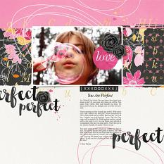 """Perfect"" digital scrapbooking layout by Brandy Murry"