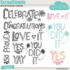 ScrapSimple Word Art Templates: Celebrate