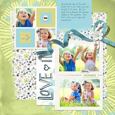 Love It layout by Melissa Renfro