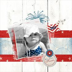 """At The Parade"" digital scrapbooking layout by Keri Schueller"