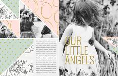 """Or Little Angels"" digital scrapbooking/Photobook layout by Brandy Murry"