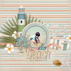 Layout by Armi Custodio using Island Life Collection Biggie, a beach-themed digital scrapbooking kit