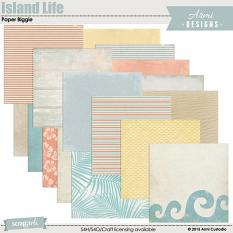 Island Life Paper Biggie, beach-themed digital scrapbooking papers by Armi Custodio