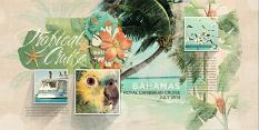 """Tropical Cruise"" digital scrapbooking layout by Brandy Murry"