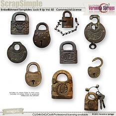 ScrapSimple Embellishment Templates: Lock It Up Vol. 02 - Commercial License