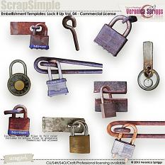ScrapSimple Embellishment Templates: Lock It Up Vol. 04