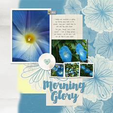 Morning Glory Layout by Melissa Renfro