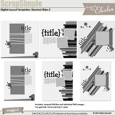 ScrapSimple Digital Layout Templates: Stacked Strips 2
