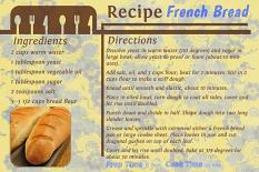 """French Bread"" Recipe Card layout by Marlene Peacock uses Value Pack: Gourmet Kitchen"