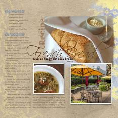 """French Bread"" digital scrapbook layout by Marlene Peacock"