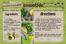 """Smoothie"" Recipe Card layout by Andrea Hutton"