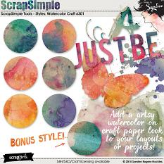 Watercolor Craft Custom Style set