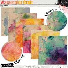 Watercolor Craft digital papers
