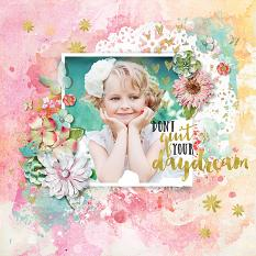 Daydream layout using Stories We Tell Embellishments