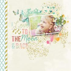 To the Moon layout using Stories We Tell Embellishments