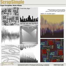 ScrapSimple Paper Templates: Music Mania