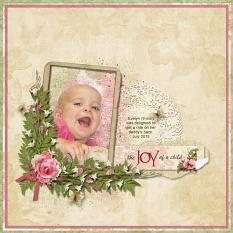 The Joy Of A Child layout using Tiny Moments Collection Super Mini