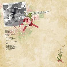 Hush Little Baby layout featuring Tiny Moments Collection Super Mini