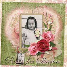 Roses for Sharon layout featuring Tiny Moments Collection Super Mini