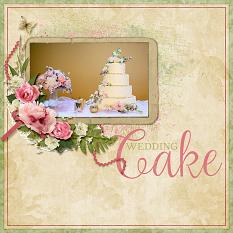 Wedding Cake layout featuring Tiny Moments Collection Super Mini