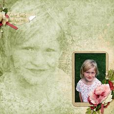 Sweet Smile layout featuring Tiny Moments Collection Super Mini