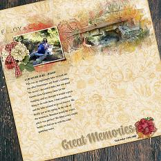 Great Memories Layout created by Andrea Hutton