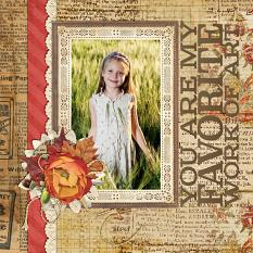Work of Art Layout created by Emily Abramson